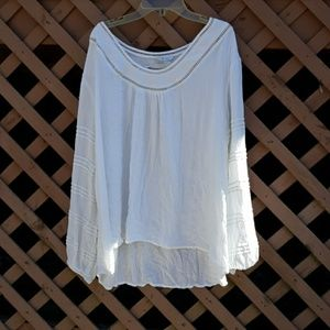 Soft flowy white blouse